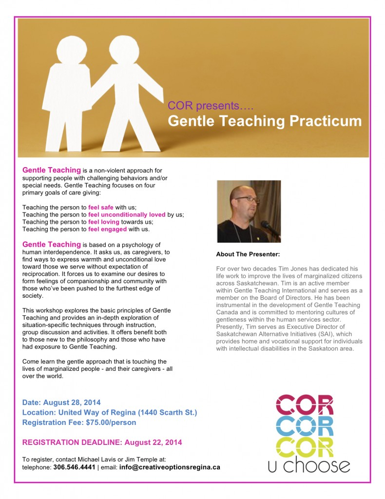 Gentle Teaching Practicum Poster 2014