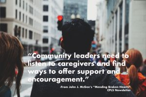 """John J. McGee's """"Mending Broken Hearts"""" CPLS Newsletter"""
