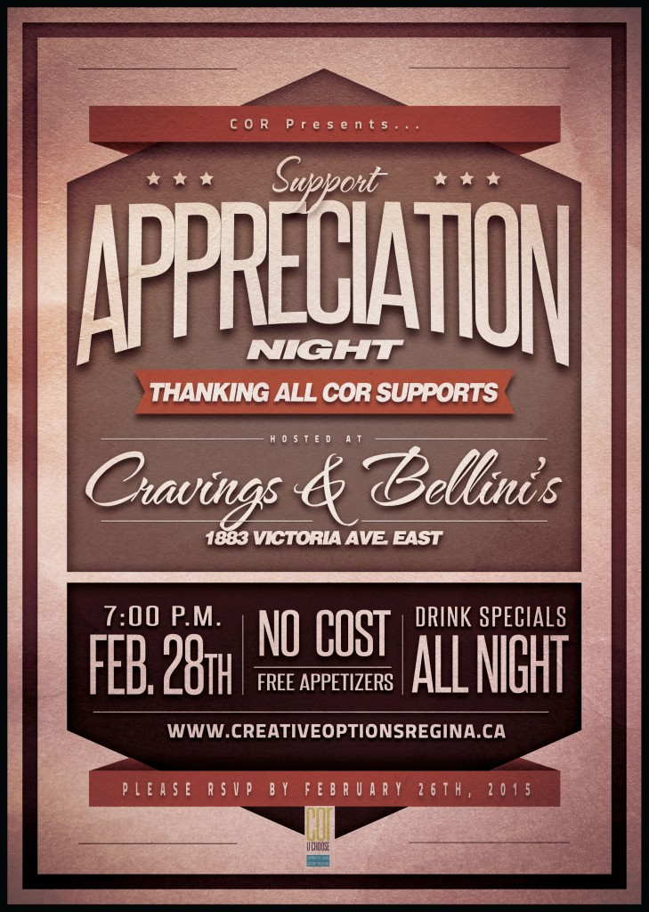 COR Presents Support Appreciation Night