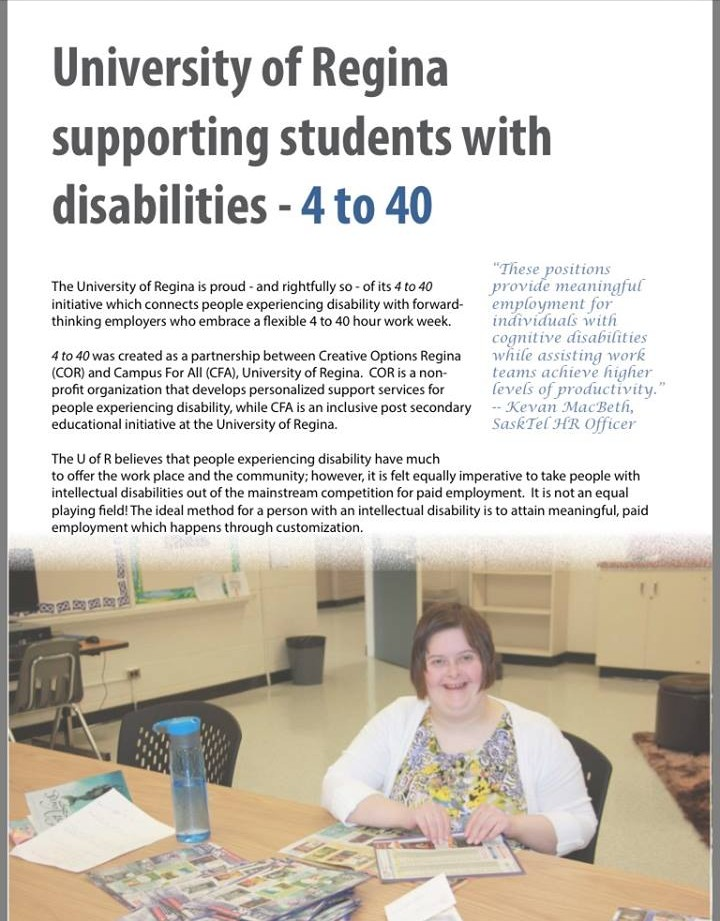University of Regina Supports students with disabilities