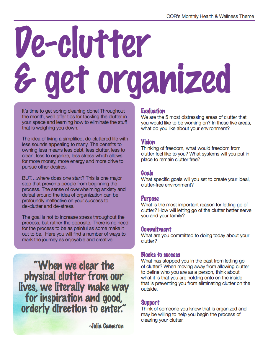 cor creative options regina cor de clutter and get organized