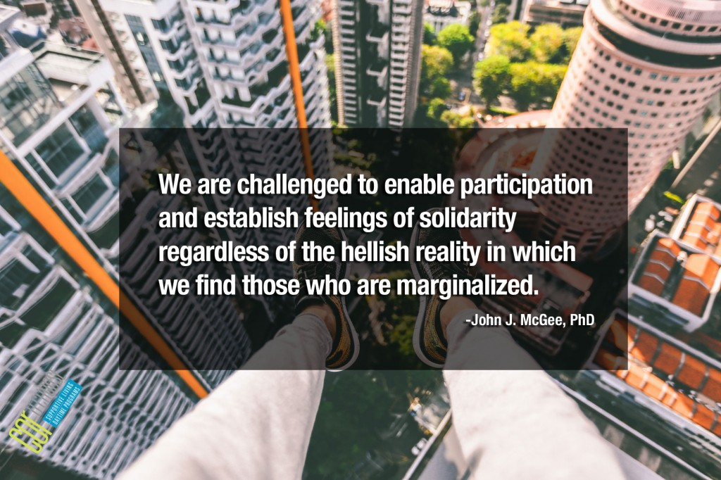We are challenged to enable participation and establish feelings of solidarity