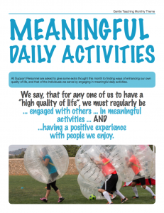 Meaningful Daily Activities