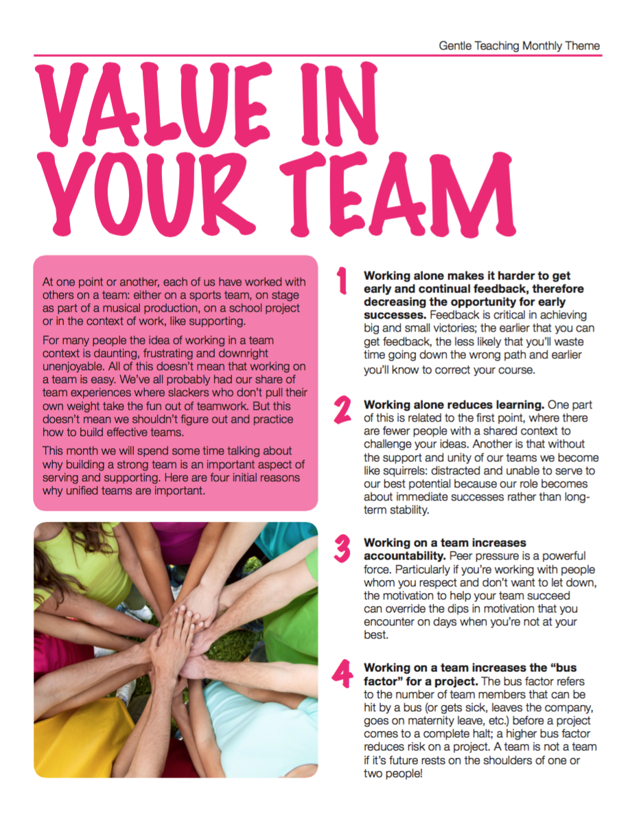 Value in Your Team