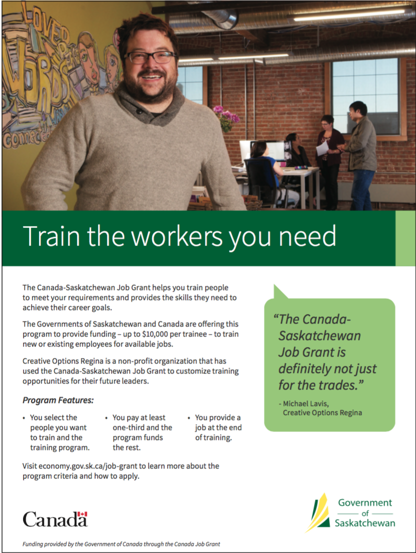 Canada-Saskatchewan Job Grant
