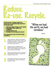 Reduce Reuse Recycle Monthly Theme