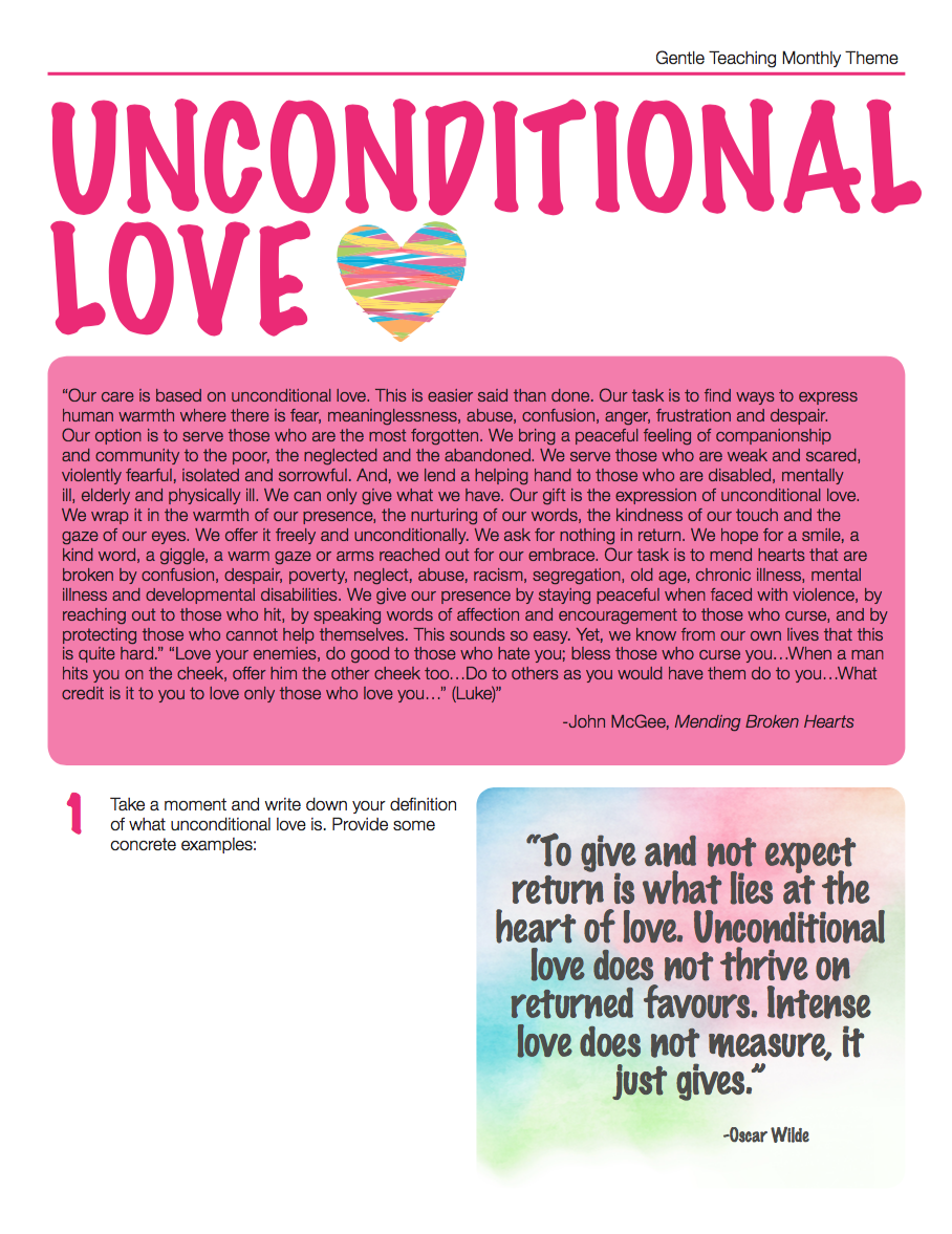 Uncondiational Love - 1