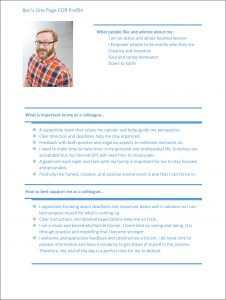 COR Ben One Page Profile