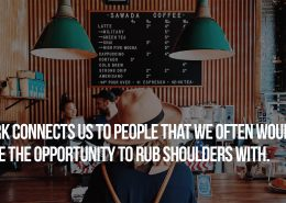 Work connects us to people