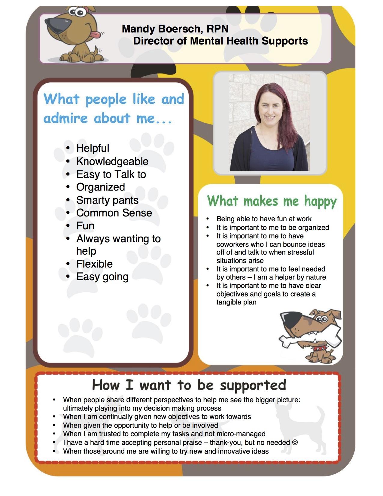 Mandy One Page Profile Creative Options Regina Cor