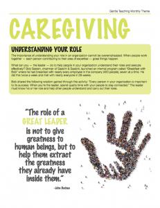 Gentle Teaching Theme: Caregiving