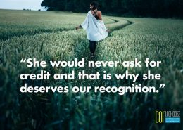 She would never ask for credit
