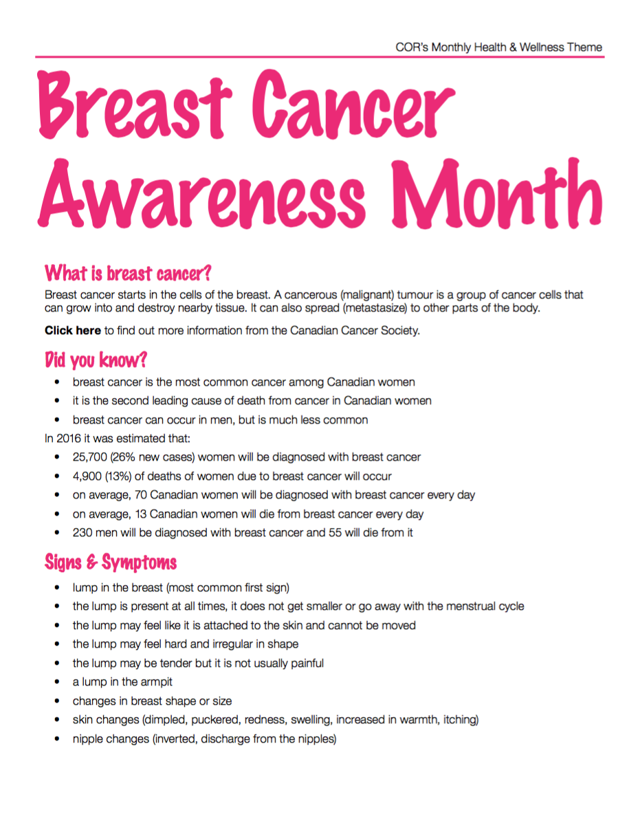 awarness week cancer Breast