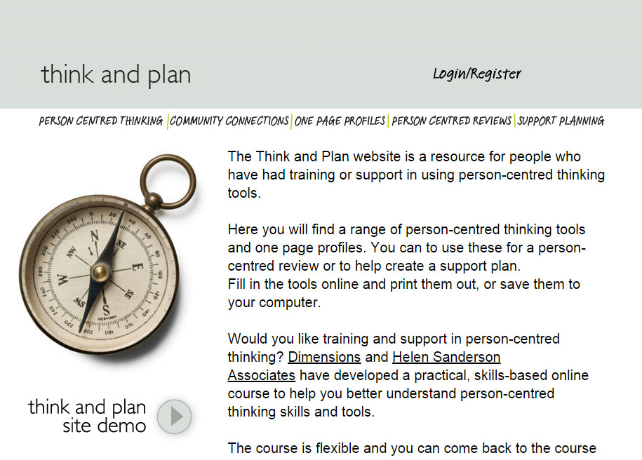 person centred planning tools
