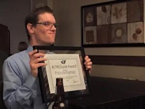 Patrick Flaman-Al McGuire Award winner