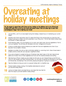 Overeating at Holiday Meetings