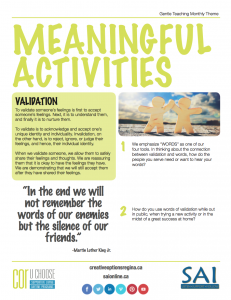 Meaningful Activities