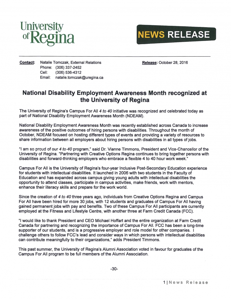 national disability employment awareness month recognized at the