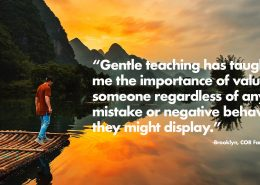 """Gentle teaching has taught"