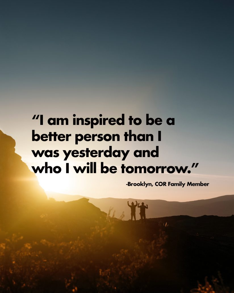 I am inspired to be a better person than I was yesterday